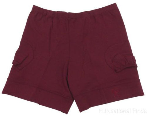 NEW XL Court Shorties Tennis Undergarment Maroon In Between Courtwear Pockets - FUNsational Finds - 1