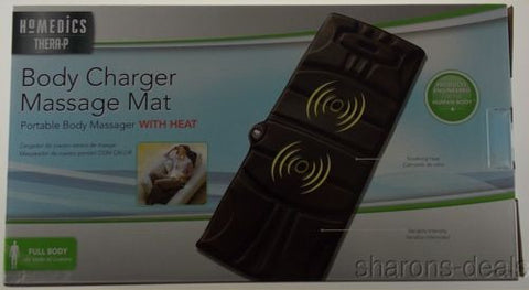 Homedics Body Charger Massage Mat Portable Heat VM-100-THP Thera P Variable NEW - FUNsational Finds - 1