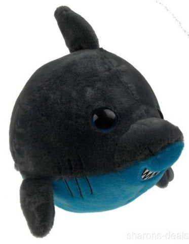 "Sea World 9"" Shark Bubble Zoo Plush Toy Blue Gray Stuffed Animal Embroidered NEW - FUNsational Finds - 1"