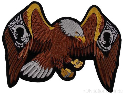 "POW MIA Eagle Patch You Are Not Forgotten Patriot Embroidered Rider Military 13"" - FUNsational Finds - 1"