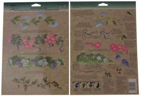 Lot 34 FolkArt One Stroke Paint Reusable Teaching Guide Mini Floral Vines 1025 - FUNsational Finds - 1