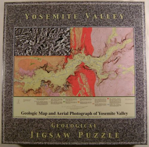 Yosemite Valley Geological Jigsaw Puzzle 18x24 550 pcs Aerial Map Photograph NIB - FUNsational Finds