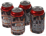 Lot of 4 Redneck Drinking Team Camo Birthday Suit Can Cooler Koozie Insulator - FUNsational Finds - 2