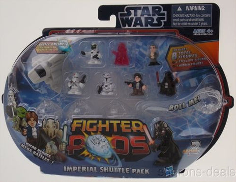 Hasbro Star Wars Fighter Pod Imperial Shuttle Pack Micro Heroes Red Series 2 NEW - FUNsational Finds - 1