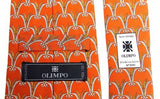 Lot 3 Olimpo 100% Silk Neckties Wheat Grain Stalks Classic Dress Business Import - FUNsational Finds - 4
