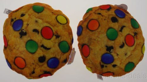 Lot 2 Chocolate Chip Cookie Candy Pillow Food Fight Soft Throw Realistic Toy NEW - FUNsational Finds - 1