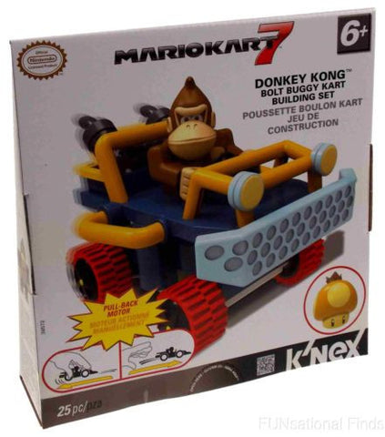 KNEX Nintendo Mario Kart 7 Donkey Kong Bolt Buggy Building Set Pull Back Motor - FUNsational Finds - 1