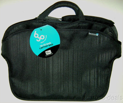 "BYO 12-13"" Neoprene Laptop Bag Black Trax Padded Shoulder Strap Compartments NEW - FUNsational Finds - 1"