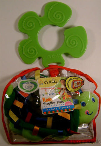 K's Kids Funky Stroller Pals Rattling Green Turtle Baby Activity Infant Toy Ks - FUNsational Finds - 1
