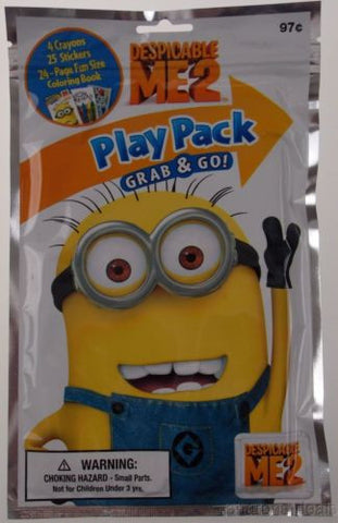 Set 6 Despicable Me 2 Play Pack Grab & Go Coloring Book Crayons Stickers Favors - FUNsational Finds - 1