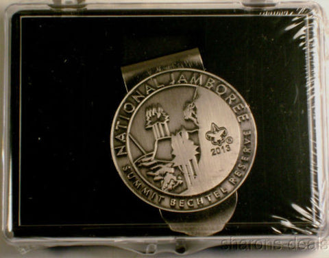 Boy Scout 2013 National Jamboree Money Clip Summit Bechtel Reserve NJ Silver BSA - FUNsational Finds