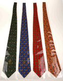 Lot 4 Olimpo 100% Silk Neck Ties Circus Clown Juggling Unicycle Elephants Horses - FUNsational Finds - 2