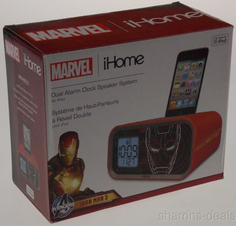 Iron Man 3 Alarm Clock Marvel iHome Avengers Dual Speaker System for iPod 30 Pin - FUNsational Finds - 1