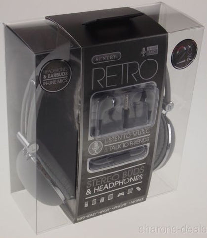 Sentry Retro Stereo Buds & Headphones Gray Earbuds Mic In Line HC400 For iPhone - FUNsational Finds - 1