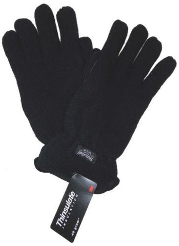 Black Structure Wool Driving Gloves 3M Thinsulate Lined Mens M L XL Winter Snow - FUNsational Finds - 1