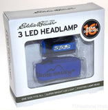 Lot 2 Eddie Bauer 3 LED Pivoting Headlamp Blue 6 Lumens Camping Bike Light Torch - FUNsational Finds - 1