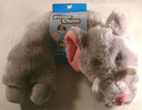 Elephant Neck Support Pillow Kellytoy Chums Kids Travel Airplane Auto Plush Baby - FUNsational Finds - 1