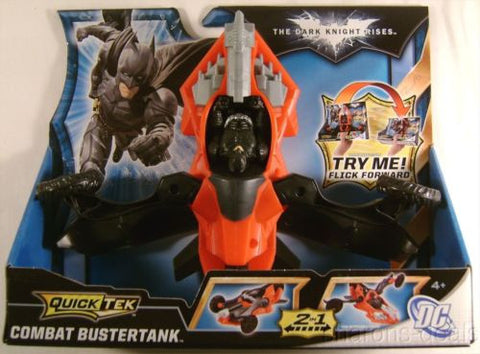 Batman The Dark Knight Rises Quick Tek Combat Bustertank Vehicle 2 in 1 Land Air - FUNsational Finds - 1