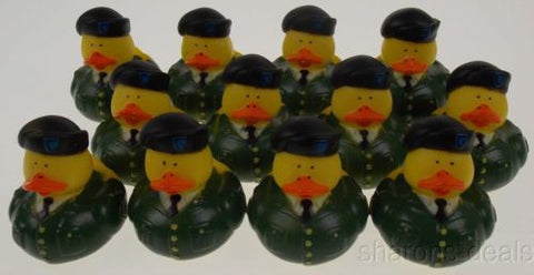 Lot 12 US Military Rubber Army Duck Duckie Party Favors Cake Toppers Decor Dozen - FUNsational Finds - 1