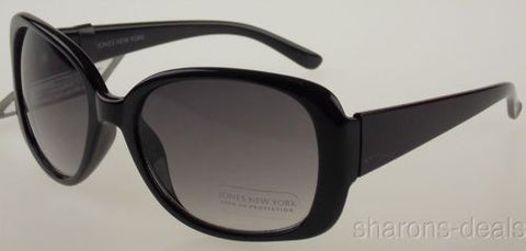 Jones New York Sunglasses 100% UV Protection Black Plastic Round 55-22-135 Large - FUNsational Finds - 1