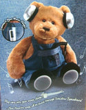 "NEW 16"" Gund Gundfun Sneaker Speakers Bear Music Player Overalls Soft Plush Toy - FUNsational Finds - 2"
