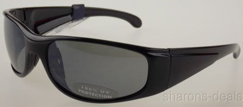 G H Bass Eyewear Sunglasses 100%UV Protection Black Plastic Sport 65-19-120 Gray - FUNsational Finds - 1