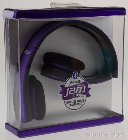 HMDX Bluetooth Jam Fusion Wireless Foldable Stereo Headphones Purple HX-HP610PU - FUNsational Finds - 1