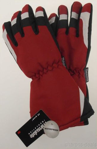 Joe Boxer Boys Red Black Ski Gloves 3M Thinsulate Waterproof Snow Winter Choice - FUNsational Finds - 1