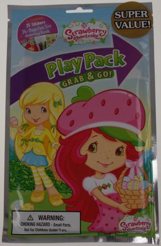 Lot 12 Strawberry Shortcake Play Pack Grab & Go Coloring Book Crayons Stickers - FUNsational Finds - 1