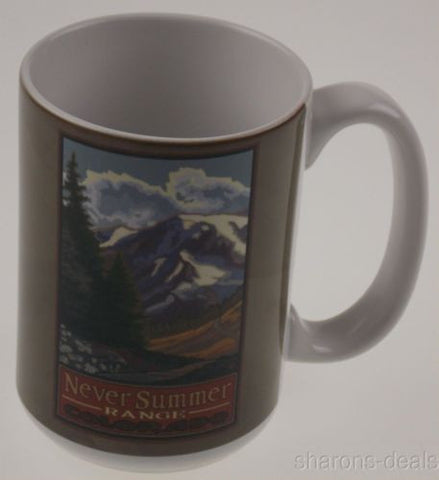 Tree Free Greetings 79402 Never Summer Range Colorado Ceramic Mug 15 Oz Lanquist - FUNsational Finds - 1
