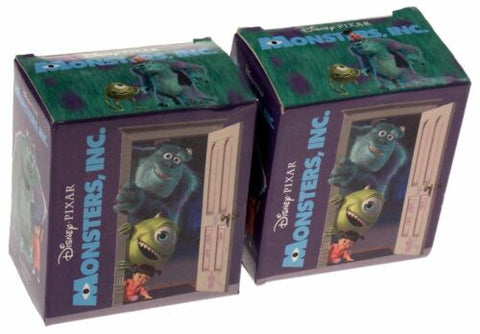 Disney Pixar Monsters Inc Lot of 2 Mega Mini Kit Sulley Figurine Magnets Book