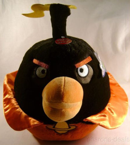 "Angry Bird Space Plush Bomb Black 12"" Sound Rovio Entertainment Doll Toy License - FUNsational Finds - 1"