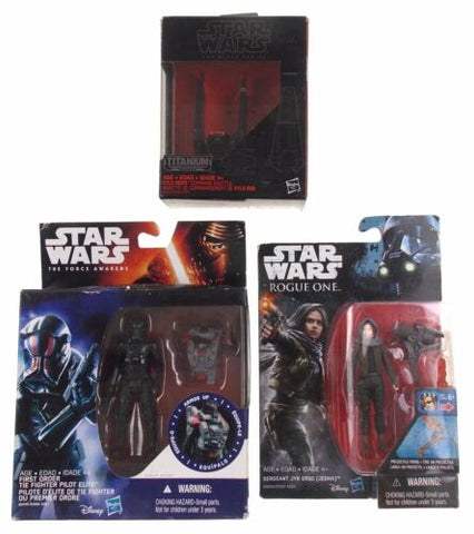 Star Wars Force Rogue Tie Fighter Pilot Jyn Erso Kylo Rens Command Shuttle Lot 3