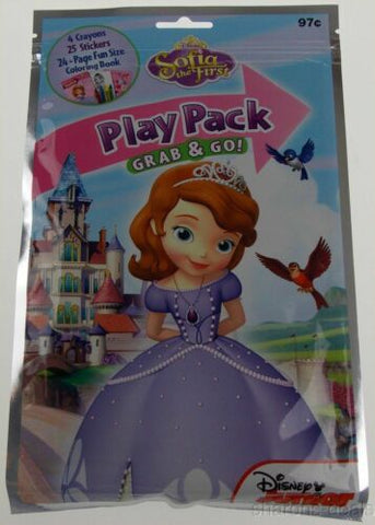 Set 12 Disney Junior Sofia Play Pack Grab Go Coloring Book Crayons Stickers