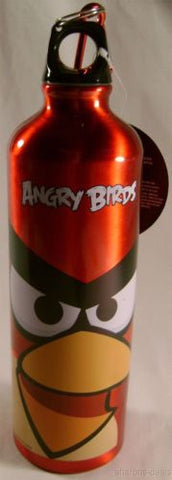 Angry Bird Aluminum Sport Water Bottle Red 28 Oz Carabiner Canteen Belt Loop NEW - FUNsational Finds - 1