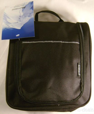 Everest Toiletry Bag Black Hanger Hook Compartments Waterproof Zippered Compact - FUNsational Finds - 1