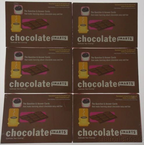 Lot 6 Chocolate Smart Game Question Answer Cards Easy Fun Craving Tips Family - FUNsational Finds - 1