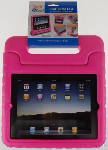 iPad 2 3 4 Tech & Go Bump Case Pink Protect Impact Handle Stand Carry Sturdy NEW - FUNsational Finds - 1