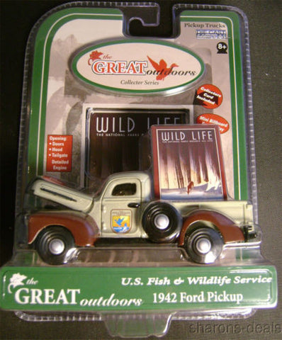 Great Outdoors Die Cast Metal 1942 Ford Pickup Truck US Fish Wildlife Service - FUNsational Finds
