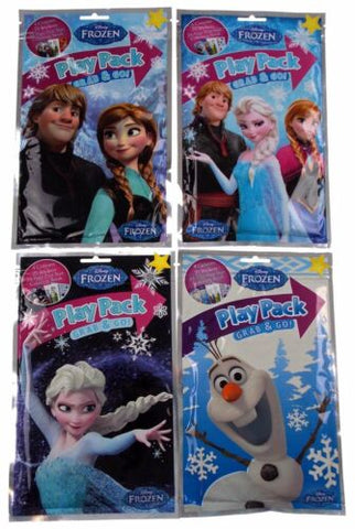Disney Frozen Play Packs Grab Go Lot 12 Coloring Book Crayons Stickers Favors
