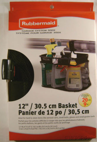 Rubbermaid Storage Basket for Garage Organizer Black System 300X Hanging Track - FUNsational Finds - 1