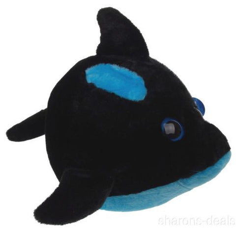 "Sea World Orca Killer Whale 9"" Bubble Zoo Plush Toy Blue Black Stuffed Animal - FUNsational Finds - 1"