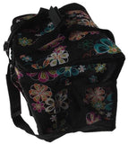 Uncle Jerrys T's Floral Insulated Cooler Black Colorful Flowers Storage Pocket - FUNsational Finds - 5