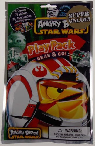 Angry Birds Star Wars Play Pack Grab & Go Set 12 Coloring Book Crayons Stickers - FUNsational Finds - 1