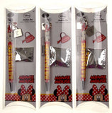 Disney Minnie Mouse Necklace Pen Lot of 3 With 2 Mystery Charms Cord Party Favor