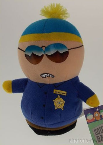 Comedy Central South Park Cartman Policeman Plush Bendable Figure Hankeys Book - FUNsational Finds - 1