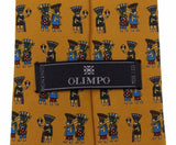 Lot 6 Olimpo 100% Silk Neckties Ancient Classic Dress Business Horse Geometric - FUNsational Finds - 5