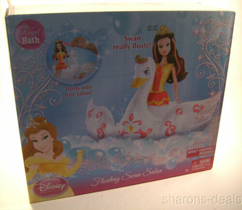 Disney Princess Floating Swan Sleeping Beauty Salon Barrettes Comb White Tub Toy