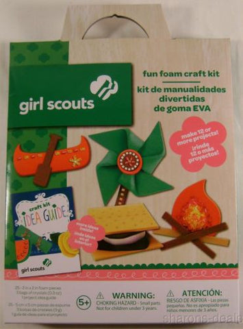 Lot 3 Girl Scout Fun Foam Craft Kit Idea Guide Projects Colorbok Crystals Gift - FUNsational Finds - 1