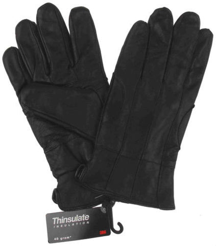 Structure Black Leather Driving Dress Gloves 3M Thinsulate Lined Mens Choice NEW - FUNsational Finds - 1